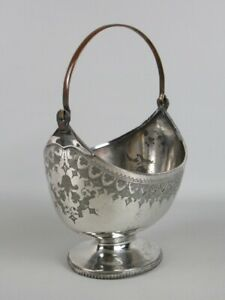JD-amp-S-Antique-Vase-Trash-Can-Victorian-Plated-Silver-Sheffield-Early-Xx-Century