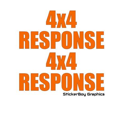 4x4 RESPONSE Sticker Rescue Lowland highland Cave Mountain Coastguard Decal x2 S