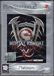 Ps2-PLAYSTATION-2-Mortal-Kombat-Deadly-Alliaence-Neu-Versiegelt-Italienisch