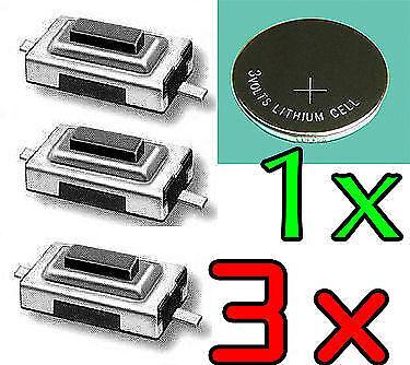 3X Switch PEUGEOT CITROEN ►Bouton Poussoir Interrupteur Clé Télécommande Plip