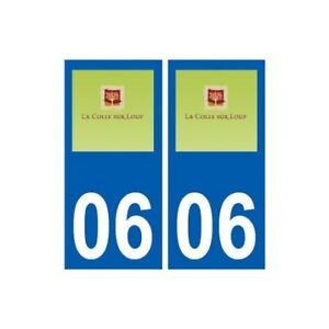 06 La Colle-sur-loup Logo Ville Sticker Autocollant Plaque - Angles : Droits