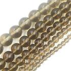Tea-color Wholesale 4/6/8/10/12mm Natural Gemstone Stone Spacer Loose Beads DIY