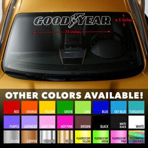 GOODYEAR-TIRES-OUTLINE-Windshield-Banner-Vinyl-Decal-Sticker-33x6-5-034
