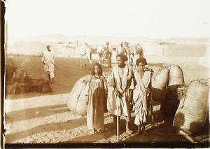 EGYPTE-Enfants-Travaillant-ca-1910-Photo-Stereo-Plaque-Verre-PL59OY2