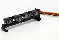 RC LED Light bar with white Lenses - 5 flashing modes - Aluminum - FZ White Rect