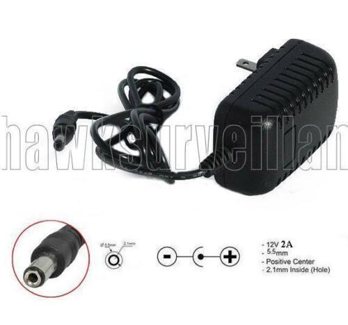 AC Adapter Input AC100-240 50//60Hz 0.4   Output DC12v 2A Size 5.5mm x 2.1mm
