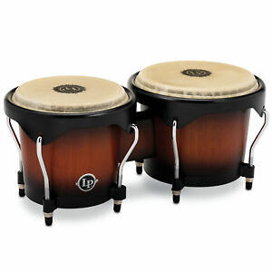 Latin-Percussion-LP-CITY-serie-bois-Bongos-Vintage-Sunburst