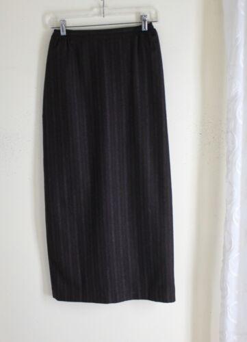 0 Skirt Brown Stripe sz Cashmere 100 Eskandar Straight Fine Udsøgt Rich 1x54qxOvw