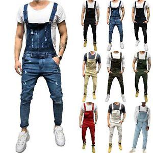 Men-Casual-Denim-Overalls-Jeans-Bib-Pants-Distressed-Suspender-Jumpsuit-Trousers