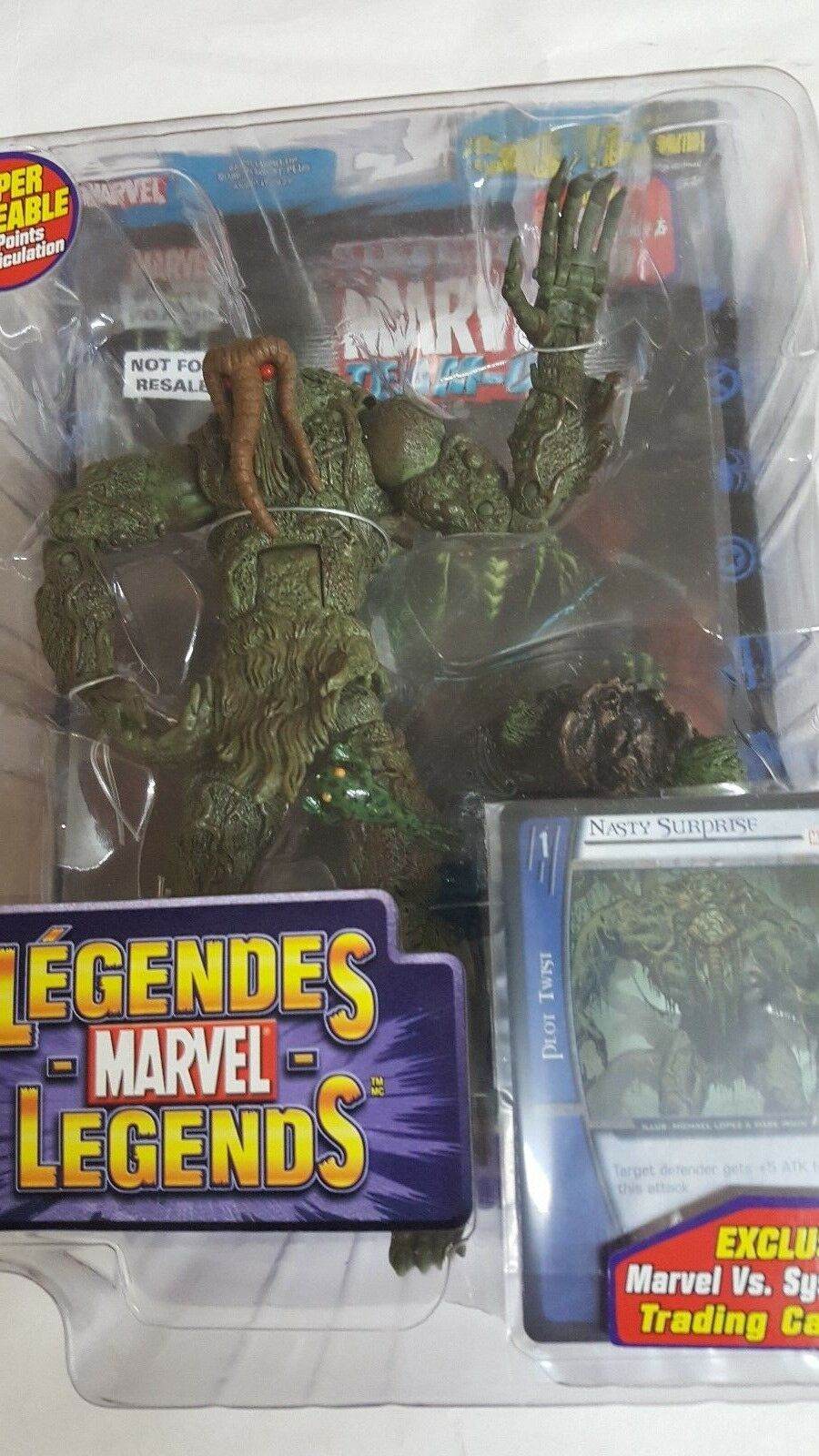 Marvel - Legends  MAN-THING with bonus comic book book book NEW 227588