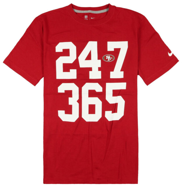 Nike San Francisco 49ers NFL Men/'s T-Shirt M  XL Heather Gym Red Gym Casual Top