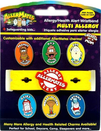 Multi-Allergie Alimentaire Bracelet Kit Original Allermates bande Peanut écrou blé Charms
