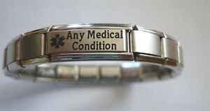 Medical-Alert-Bracelet-Personalised-Any-Condition-Illness-Ailment-Allergy