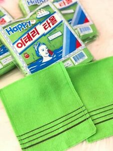 Korean Exfoliating Washcloth //Body Scrubber Original Italy Towel Large 4pcs