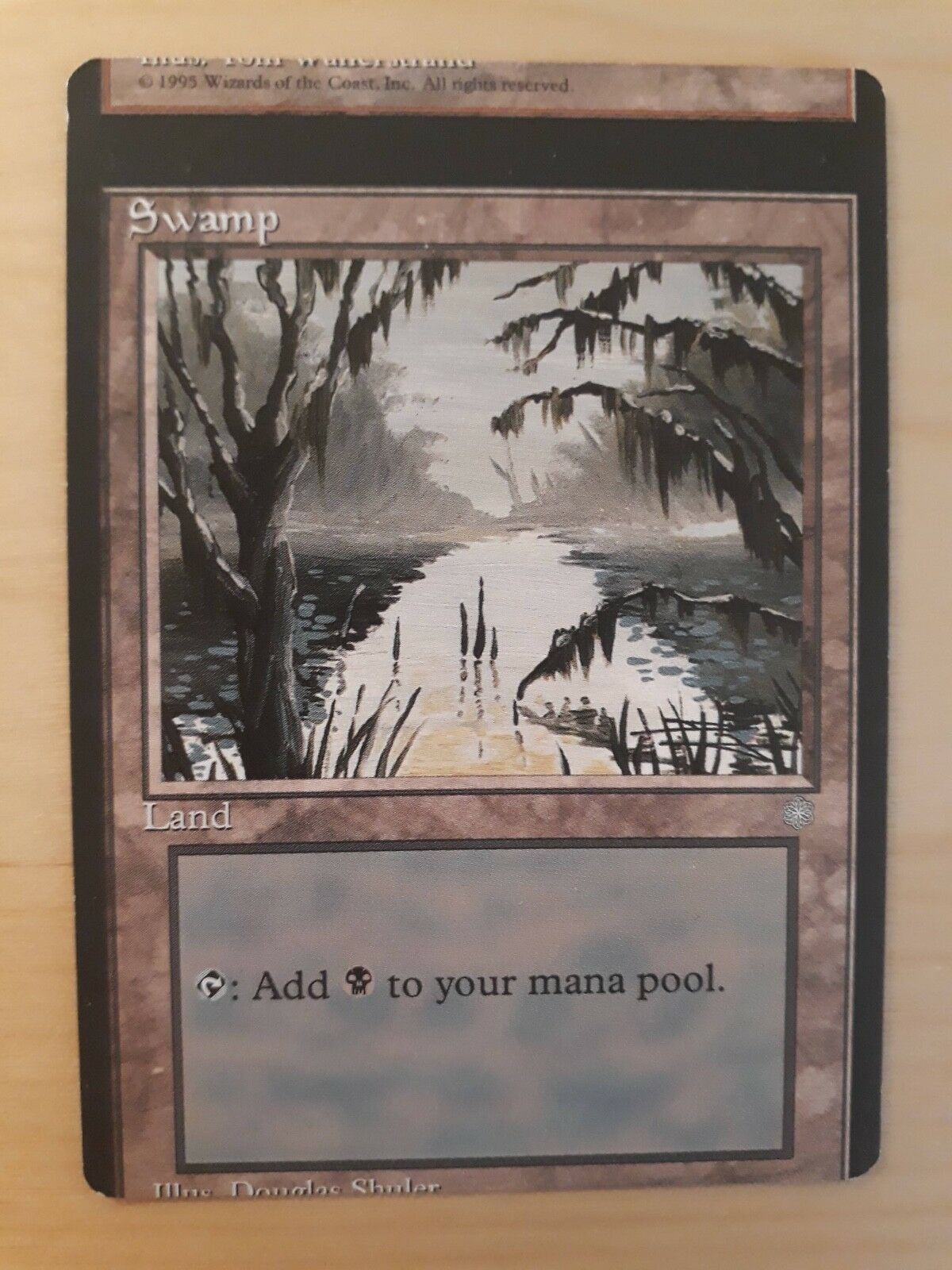 MTG Swamp  MISCUT   MISPRINT    Ice Age   NM with photos