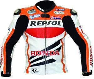 HONDA-REPSOL-VETEMENT-EN-CUIR-MOTORBIKE-BIKER-CUIR-VESTE-MOTO-CUIR-VESTE-EU-54