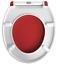 EISL Duroplast WC-Sitz ROT//WEIß Absenkautomatik Toilettendeckel Schnellverschlus