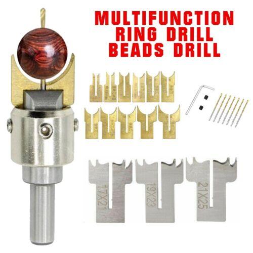 Wood Ring Maker Buddha Beads Drill Bit Milling Cutter Set Kit Woodworking Tools