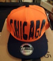 Chicago Flat Brim Hat Illinois Baseball Cap Snapback Hat Bears Colors Kb Ethos