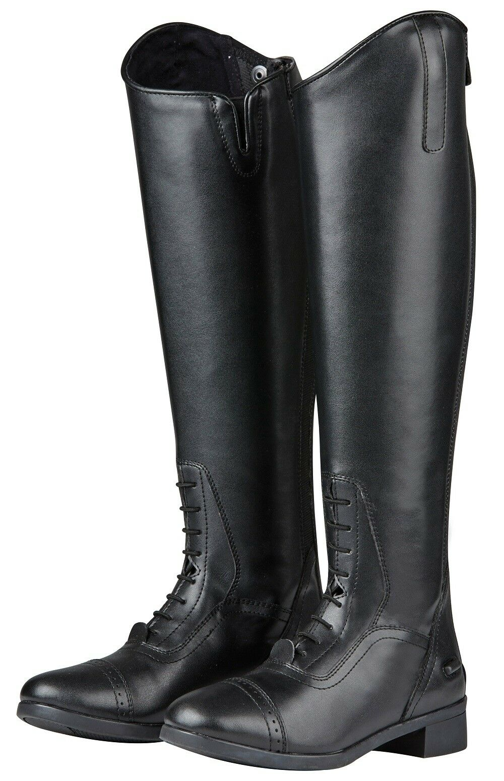 Saxon Syntovia Tall Boot LACED FIELD Show  Dressage Horse Riding Boots Zip ALL S