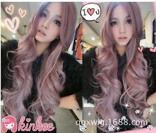 "New  80cm/31.5"" Lavender big wave long wig Women cosplay Wig"