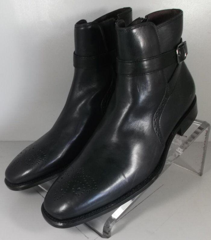 271801 MSBT50 Men's shoes Size 10.5 M Black Leather Boots Johnston & Murphy