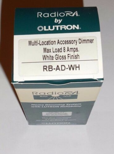 Loction Accessory Dimmer RA 600 Watt  White Lutron Radio RA RB-AD-WH Multi
