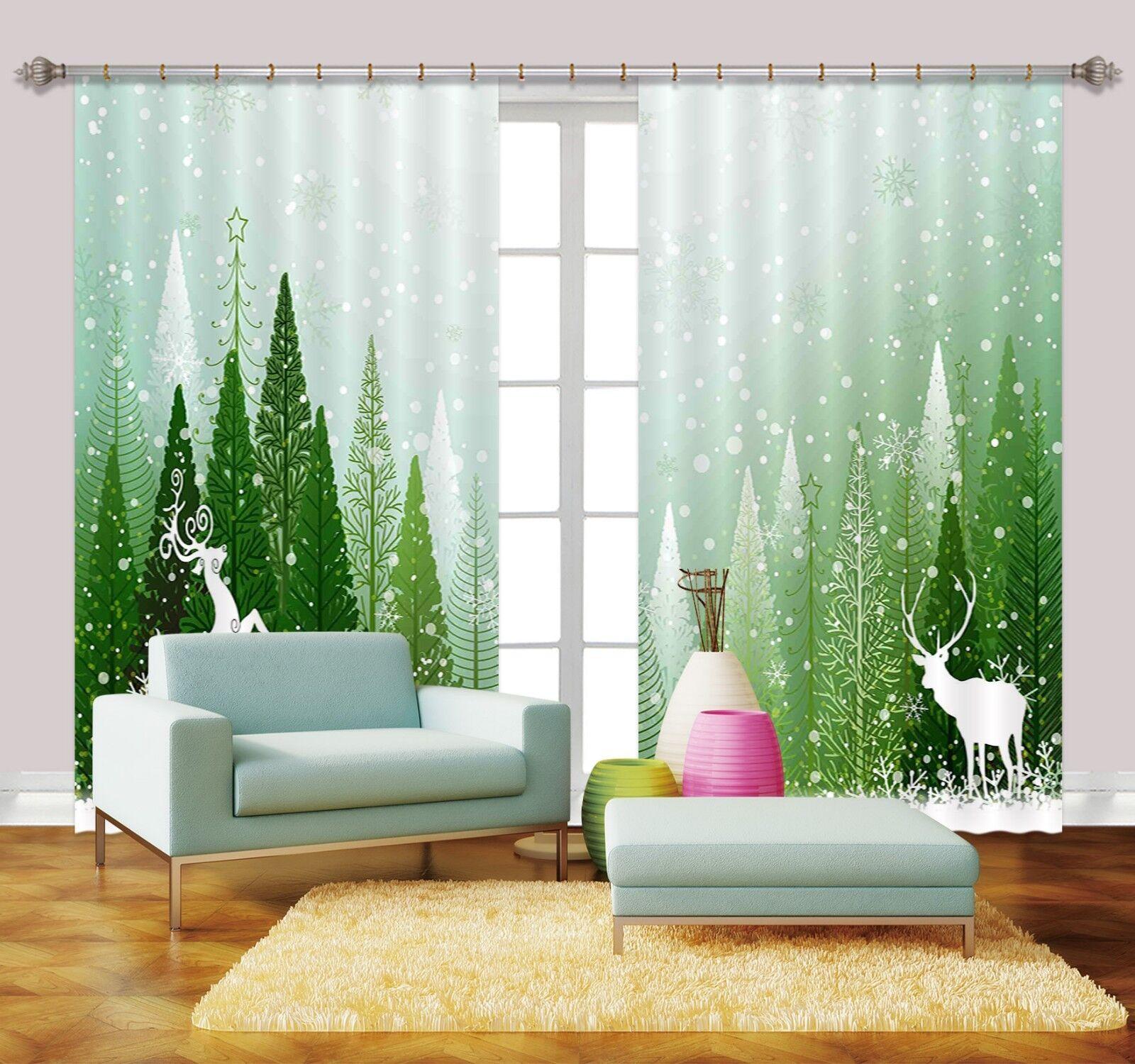 3d bosques Hirsch bloqueo 58 cortina de fotografía presión cortinas cortina de tela de ventana