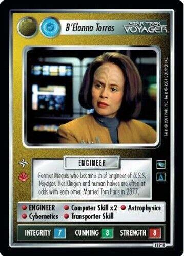 Voyager STCCG Decipher Star Trek: B/'Elanna Torres Non-Aligned Mint//Near Mint