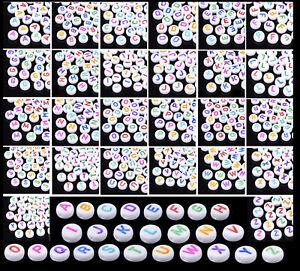 4x26 Alphabet   104 Acryl Buchstabenperlen    Armband Namensarmband basteln