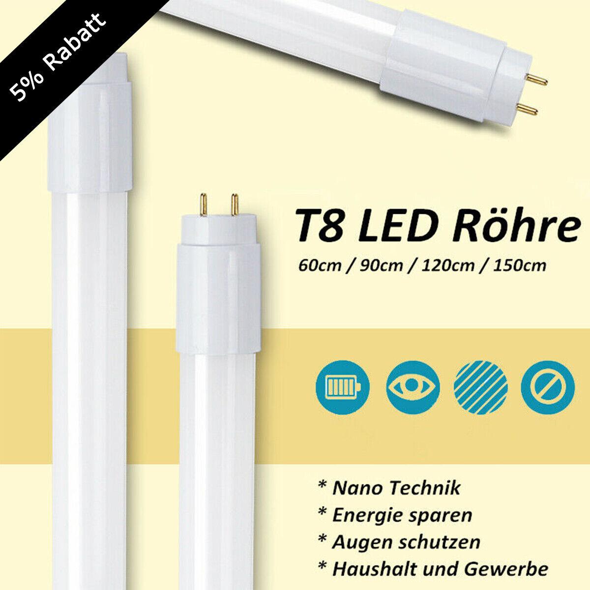 LED Röhre T8 G13  Leuchtstoffröhre 90cm 120cm 150cm Tube Neonröhre Leuchte lampe