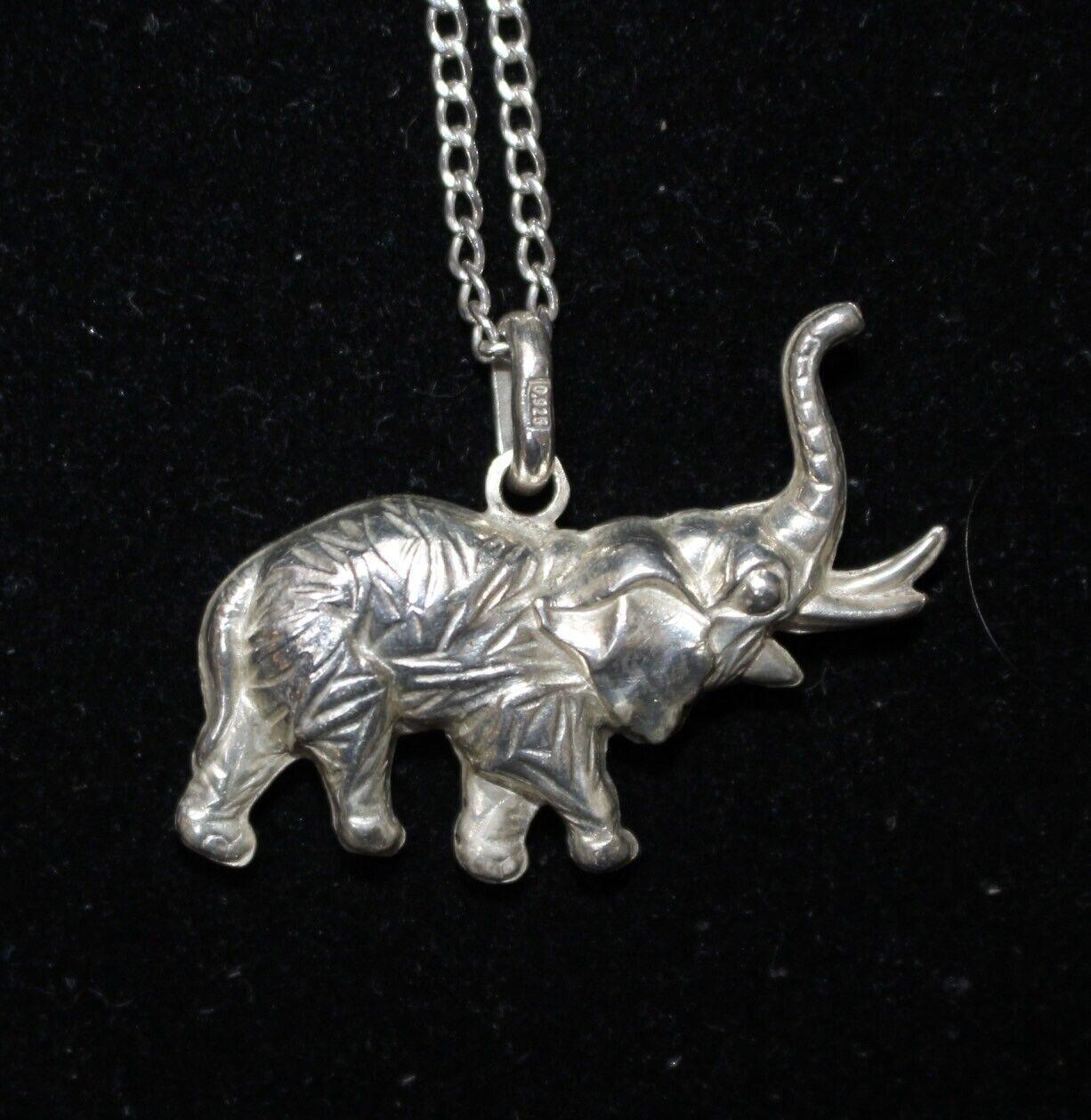 Charm Pendant Artisan Pendant Handmade Pendant 92.5 Sterling Silver Elephant  Head Pendant