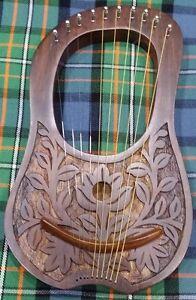 La Fourniture Gravé Lyre Harpe Elle Frime Bois 10 Métal Cordes Gratuit étui De Transport/lyre Harfe-afficher Le Titre D'origine Bien Vendre Partout Dans Le Monde