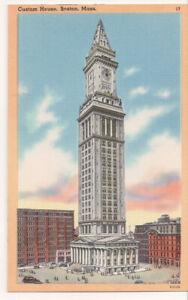 Vintage Postcard Custom House Tower Boston Massachusetts Ebay