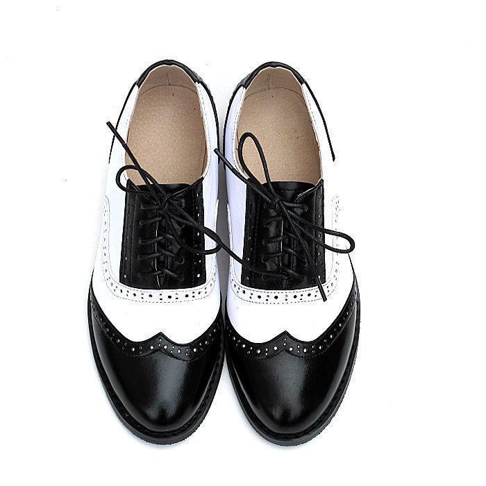 Ala De Cuero Para Para Para Mujer Dama Con Cordones De Punta En Punta Oxford Zapatos 19 Colors M81  tienda hace compras y ventas