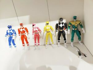Power-Rangers-Legacy-Green-Red-Pink-Blue-Yellow-And-Black-Ranger-Lot