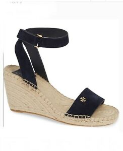 $278 Tory Burch Bima 2 Espadrille Navy Suede shoes size 9 New