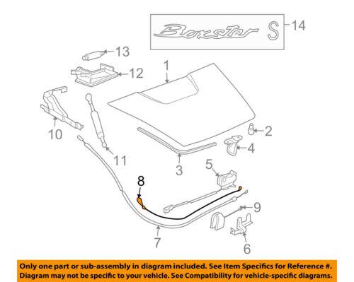PORSCHE OEM 05-12 Boxster Trunk Lid-Release Cable 98751252100