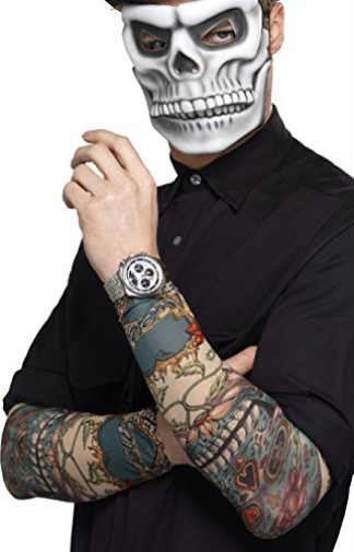 Day of the Dead Tattoo Sleeve, Multi-Coloured, 2 Pack (US IMPORT) COST-ACC NEW