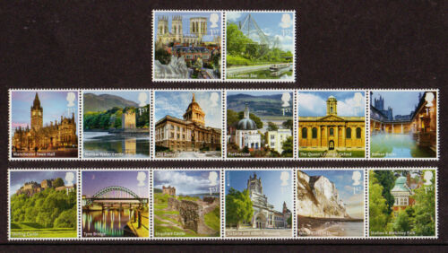 "GREAT BRITAIN 2012 SET OF 14 IN 3 STRIPS ""UK AZ PART 2"" UNMOUNTED MINT, MNH"