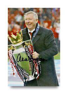 Sir-Alex-Ferguson-Signed-6x4-Photo-Manchester-United-Manager-Autograph-COA
