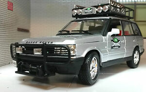 1-24-Range-Rover-experiencia-Safari-P38-V8-4-0-4-6-Plata-Bburago-Modelo-Diecast