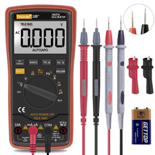 Digital Multimeter Auto Ranging Trms 6000 Ac Dc Voltage Alert Amp Ohm Diod New