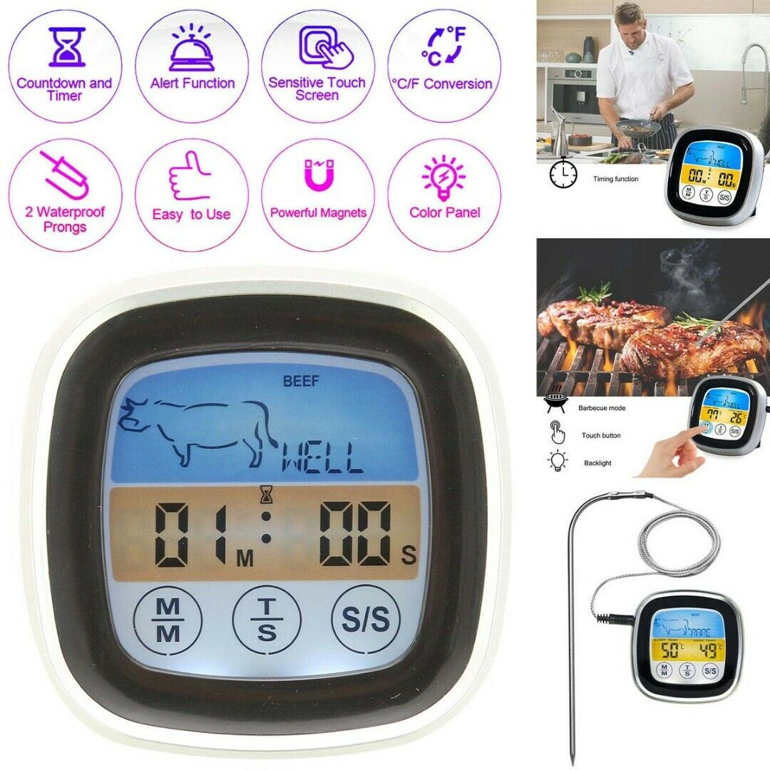 BBQ Thermometer For Oven Meat Grill With Probes Bluetooth Co