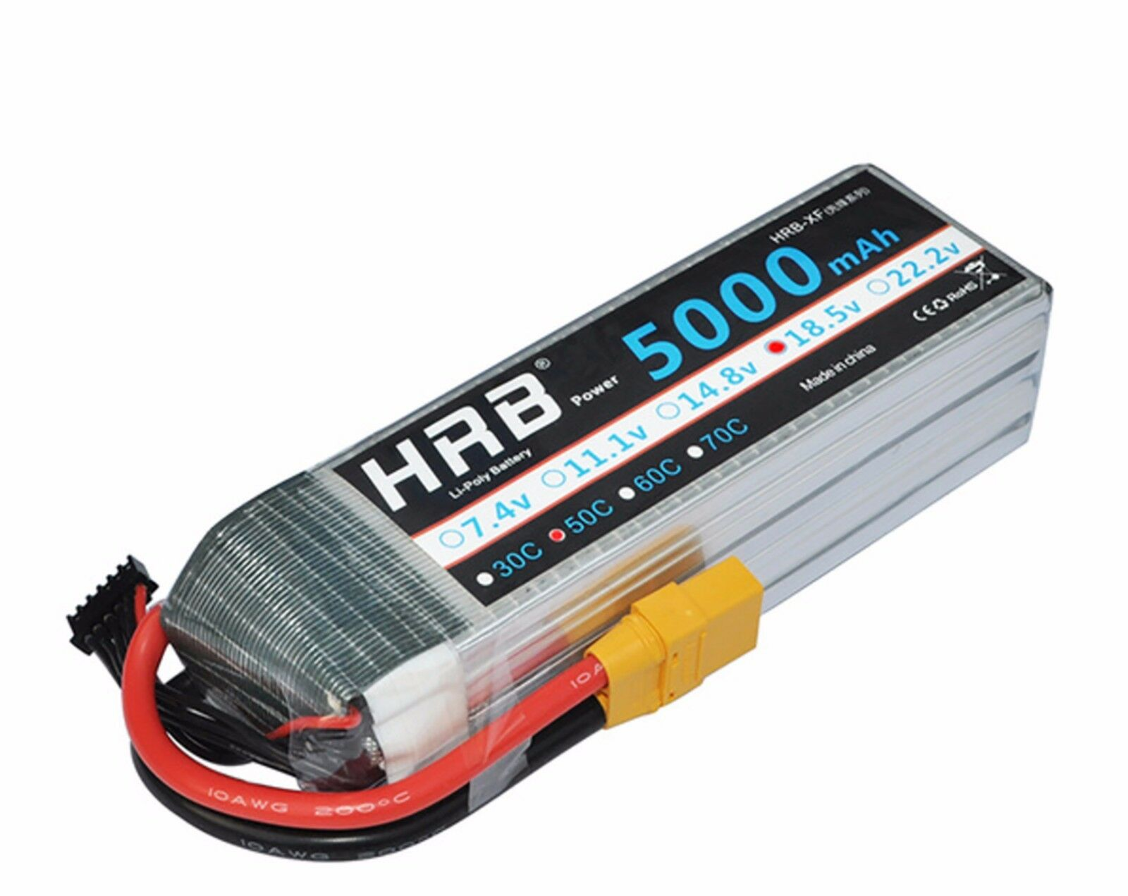 HRB Drone AKKU 18.5V 5000mAh 50C Max 100C 5S Battery Lipo Bateria For Helicopter