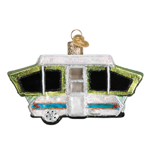Old-World-Christmas-TENT-CAMPER-46068-N-Glass-Ornament-w-OWC-Box