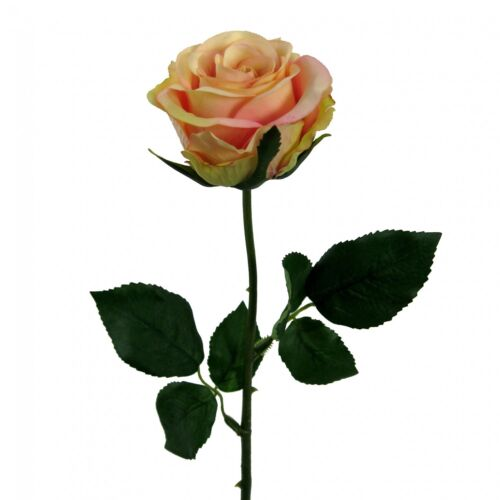 künstliche Rose 47,5 cm rosa mit Wasserstiel Kunstblume Kunstrose