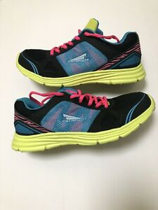 Catapult Womens Sz 9Athletic Shoes Running Black Neon Green Pink Blue Workout