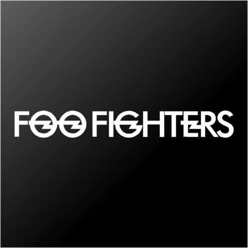 Foo Fighters Logo Concrete and Gold Car Window Laptop Vinyl Decal Sticker
