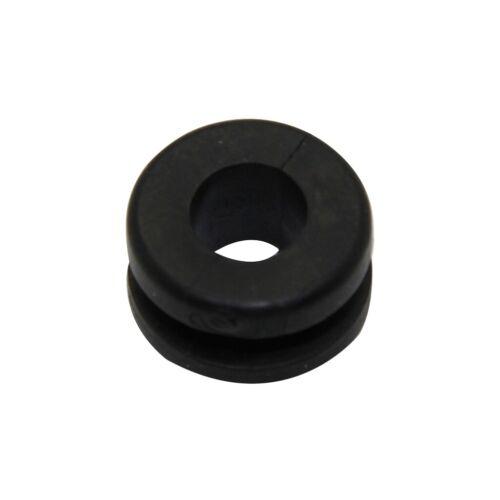 20x FIX-GR-43 Grommet Panel cutout diam7.9mm Hole dia4.7mm rubber black
